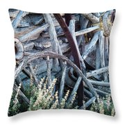 Belmont Broken Wagon Wheels 1649 Throw Pillow