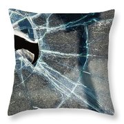 Belmont Cracked Window And Shadow 1599 Throw Pillow