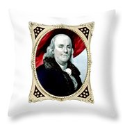 Ben Franklin - Two Throw Pillow