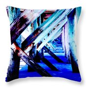 Beneath The Docks Throw Pillow