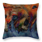 Beneath The Waves Throw Pillow