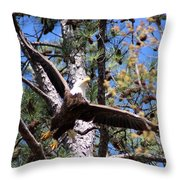Berry College Eagle Mom Throw Pillow