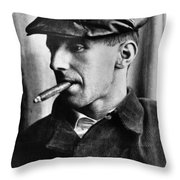 Bertolt Brecht (1898-1956) Throw Pillow