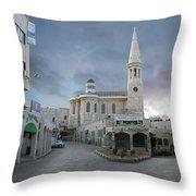 Bethlehem - Al Madbasa Street Throw Pillow