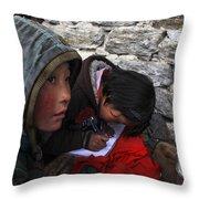 Bhutan Throw Pillow