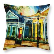 Big Easy Neighborhood Throw Pillow