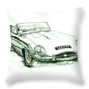 E Type Throw Pillow