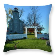 Big Sodus Lighthouse Throw Pillow