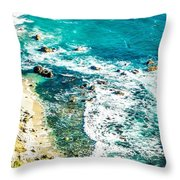 Big Sur California Coastline On Pacific Ocean Throw Pillow