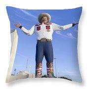 Big Tex In Dallas Texas Throw Pillow