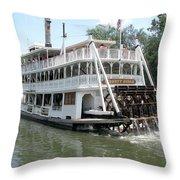 Big Wheel Boat Throw Pillow