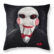 Billy The Puppet Throw Pillow