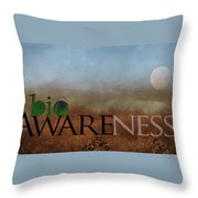 bioAWARENESS II Throw Pillow