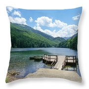 Biogradska Gora Forest  Throw Pillow