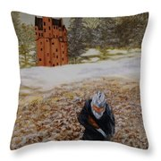 Bird Hunting At Midmar Castle Throw Pillow
