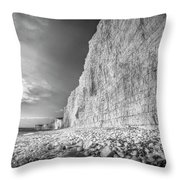 Birling Gap And Seven Sisters Throw Pillow