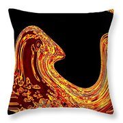 Birth Of A Golden Eagle Throw Pillow