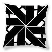 Black And White Geometric Throw Pillow