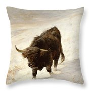 Black Beast Wanderer Throw Pillow by Joseph Denovan Adam