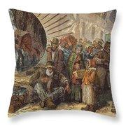 Black Exodus, 1880 Throw Pillow