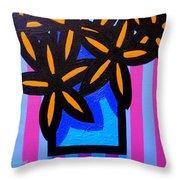 Black Eyed Flowers  Throw Pillow