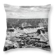 Black Grand Canyon  Throw Pillow