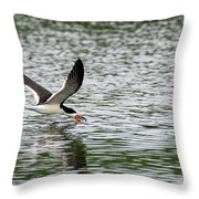 Black Skimmer Fishing Throw Pillow