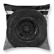 Black Wheel Throw Pillow