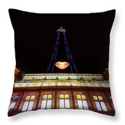 Blackpool Tower Throw Pillow