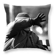 Blind Man Throw Pillow