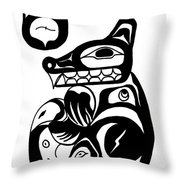 Bloodwolf Throw Pillow