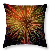 Blooming Fireworks Throw Pillow