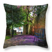 Blossom Path Throw Pillow