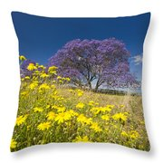 Blossoming Jacaranda Throw Pillow