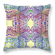 Blossoms And Butterflies Throw Pillow