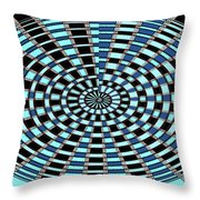 Blue And Black Abstract Throw Pillow