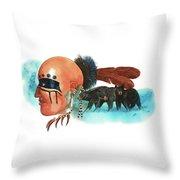 Blue Bears Throw Pillow