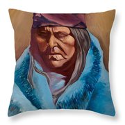 Blue Blanket Throw Pillow