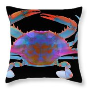 Blue Crab, X-ray Throw Pillow