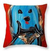 Blue Dog Throw Pillow