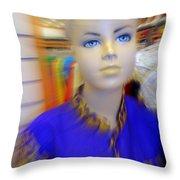 Blue Eyed Boy Throw Pillow