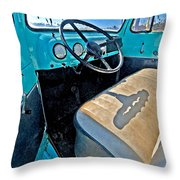 Blue Ford Pickup Truck Throw Pillow