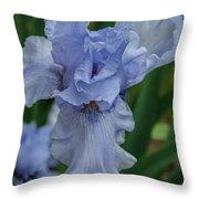 Blue Iris 2 Throw Pillow