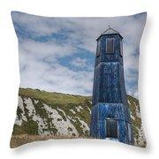 Blue Lighthouse Throw Pillow