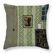 Blue Night In A Green Room Throw Pillow