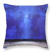Blue Night Magic Throw Pillow