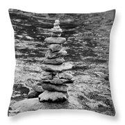 Blue River Zen Throw Pillow