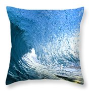 Blue Sleeve  - Triptych   Part 1of 3 Throw Pillow