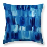 Blue Thing Throw Pillow by KR Moehr