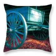 Blue Wagon Throw Pillow